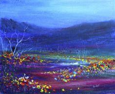 oil pastel art | Oil pastel painting: Field of flowers « EvAntArts Blog