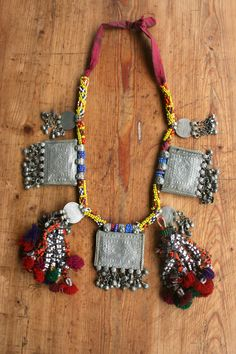 Beaded vintage tassel necklace.