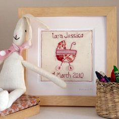 Personalised Framed New Baby Picture - Girls & Boys | GWAG