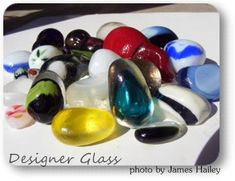 Designer glass is generally not just one color throughout  but a blend or combination of colors and...