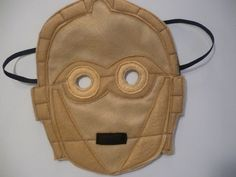 Felt C3PO mask for dressing up/costume/fancy dress by MummyHughesy on Etsy https://www.etsy.com/uk/listing/123685254/felt-c3po-mask-for-dressing
