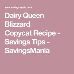 Dairy Queen Blizzard CopycatRecipe - Savings Tips - SavingsMania
