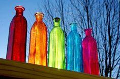 Tornasol de botellas