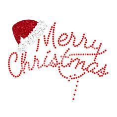 Merry Christmas Sequin Glitter Wholesale Heat Transfers Design