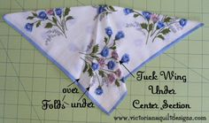 Vintage Hankie Butterfly Block Quilt Pattern Tutorial from ...