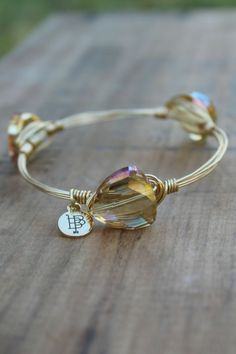 Off the Racks Boutique - Bourbon and Boweties: Yellow Faceted Bangle, $32.00 (http://www.shopofftheracks.com/bourbon-and-boweties-yellow-faceted-bangle/)
