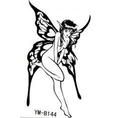 Yimei Tattoo Aufkleber wasserdicht sexy Engel weibliche schwarze Charme