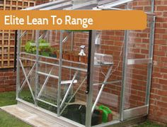 """Elite's Lean To range consists of smaller buildings, for growers with less space up to the large 8ft4"""" wide Kensington.Lean To's provide growing success from a reduced space, without reduction in quality or available features."""