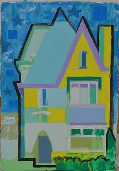 Dutch middleclass house, 2016. Oil on wood, size:12x18cm
