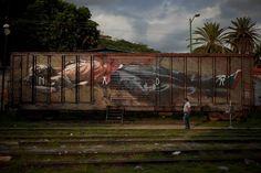"""Nada"" (Nothing) by AXEL VOID, Oaxaca, México.  #AxelVoid #Graffiti #Mural #UrbanArt #GhostMagazine #StreetArt"