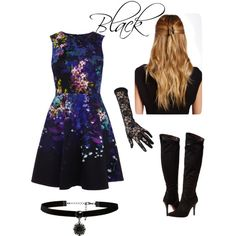 Black for Semi formal parties by yacintashafira on Polyvore featuring Report, Forever New and Natasha Accessories