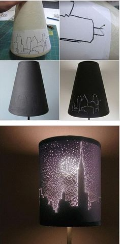 City Lights Lampshade:  Another awesome DIY decor project for teengirls' room !