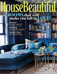sneak peek at designer Jeannette Whitson's home via Cote de Texas in the June 2013 issue of House Beautiful (Simon Watson, photography) Living Room Sofa, Living Spaces, Living Rooms, City Living, Hague Blue, Beautiful Homes, House Beautiful, Interior Decorating, Interior Design