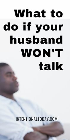 Most women got married because they found a guy who makes them feel seen, heard, and understood. So it's frustrating when once married the very thing that attracted her to her mate is shut off. Important steps to take when your husband refuses to talk Communication In Marriage, Intimacy In Marriage, Marriage Prayer, Happy Marriage, Marriage Advice, Advice For Newlyweds, Newlywed Advice, Asking For Forgiveness, Healthy Marriage
