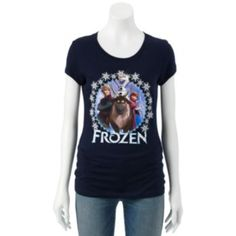 Shop our entire selection of juniors' tees, including this Disney Frozen Ana, Olaf, Kristoff & Sven Tee, at Kohl's. College Girl Fashion, College Girls, Anna Frozen, Disney Frozen, V Neck Tee, Olaf, Cool Outfits, T Shirts For Women, My Style