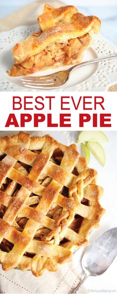 Best Ever Apple Pie – a classic recipe packed with Granny Smith apple cinnamon filling and flaky crust in a lattice pattern. Vintage recipe from 1976. Find it on MomLovesBaking.com. #applepie #baking #recipe #piecrust #appledessert #falldessert Apple Desserts, Fall Desserts, Delicious Desserts, Best Ever Apple Pie, Love Food, A Food, Food Articles, Vintage Recipes, Sweet Treats