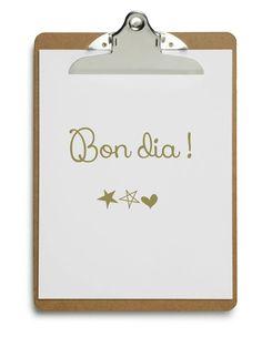 Bon dia! Good morning!