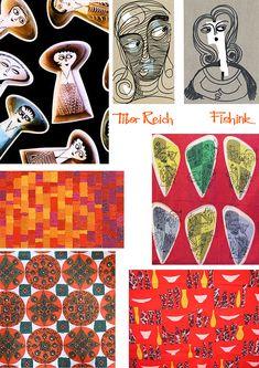 Tibor Reich The rebirth of his mid-century textiles Beautiful Patterns, Artist Painting, School Design, Illustration Art, Illustrations, Vintage Prints, Textile Design, Print Design, Illustration