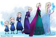 Evolution of Elsa - Frozen