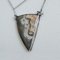 Winters bite...Mexican crazy lace agate sterling silver necklace.