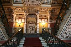Interior foyer, Achilleion Palace, Corfu, Greece
