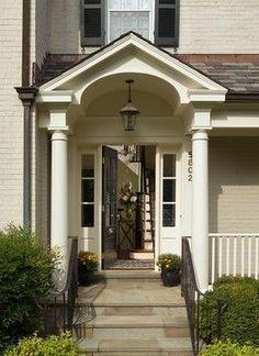 front door portico designs   Front Door Portico Design Ideas, Pictures, ...   home's where the hea ...