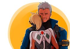 Soldier 76 and Mercy Mehr Jack Morrison, Character Bio, Best Cosplay, Best Games, Mom And Dad, Cute Couples, Geek Stuff, Fan Art, Video Games