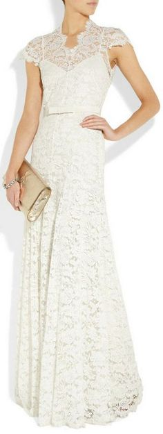 Gorgeous! Vintage inspired wedding gown // temperley london