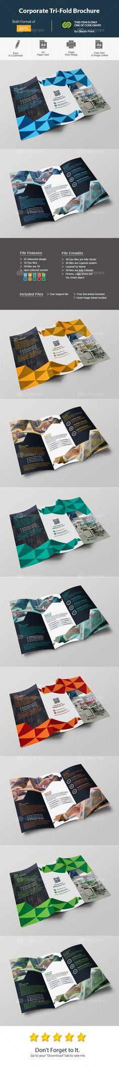 Corporate Tri-Fold Brochure on @codegrape. More Info: https://www.codegrape.com/item/corporate-tri-fold-brochure/11429