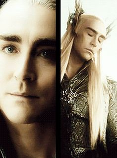 """Great edit: Lee Pace is so pretty as #Thranduil"" — It's like he's made of starlight. His face! He's So darn beautiful."