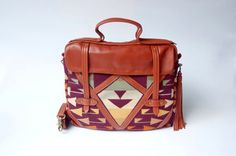 ON SALE, Leather and Pendleton laptop, messenger bag,. $240.00, via Etsy.