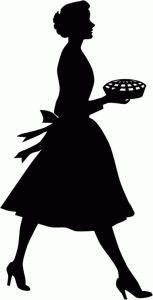 Lady with pie