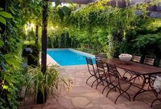 Luxury Outdoor Furniture Sets by Eckersley Garden Architecture Small-swimming-pool-Outdoor-Furniture-sets-Design-Ideas – Home Design Decorates Inground Pool Designs, Small Inground Pool, Small Swimming Pools, Small Pools, Swimming Pool Designs, Lap Pools, Kleiner Pool Design, Patio Images, Small Pool Design