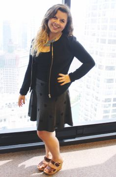 Kiersten Sinko (Editorial Intern) dresses up every outfit with a statement necklace. Check out more #OfficeStyle by the Womensforum ladies and gents here: http://www.womensforum.com/womensforum-team-office-style-slideshow.html#