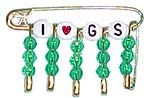 Coiless Girl Scout Pins