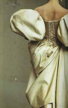 'This December 1995 image photographed by Irving Penn of a Christian Lacroix dress illustrates one of couture's cardinal rules - that fabric should dictate form' - In Vogue (2006)