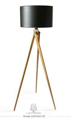 Lampa sztalugowa stojąca LIGHTWOOD drewno LW14