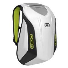 OGIO Mach 3 Motorcycle Backpack in  white and high viz yellow #backpack #ogio #ogiowishlist15