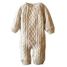 New Winter&Autumn Baby Rompers Newborn Boys Girls Clothes Clothing Jumpsuit O-Neck Solid Thick Warm Cotton Roupas De Bebe 1648(China (Mainland))