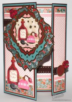 Crafter's Companion, Halcyon Days Card Kit, Offset Gatefold Card