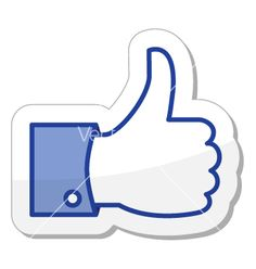 Facebook like it - thumb up vector 914124 - by RedKoala on VectorStock®
