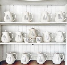 Teapots on teapots Wall Curio Cabinet, Display, Teapots, Teacup, Shelf, Group, Beautiful, Fun, Decor