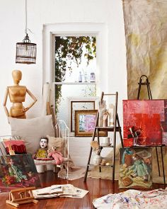 Artist's retreat. Styled by Emily Ward. Photo by Mike Baker