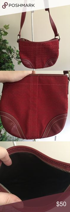 NWOT Red coach cross boy NWOT bright red coach cross boy Coach Bags Crossbody Bags