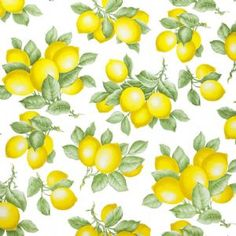 Traditional Lemon Design PVC Tablecloth