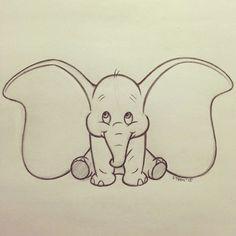 My Disney drawing – One of the cutest Disney characters! The post My Disney drawing – One of the cutest Disney characters! appeared first on Woman Casual - Drawing Ideas Cute Drawings Tumblr, Cute Disney Drawings, Cute Easy Drawings, Disney Sketches, Drawing Disney, Dumbo Drawing, Disney Pencil Drawings, Disney Character Sketches, Cartoon Elephant Drawing