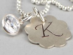 silver K necklace