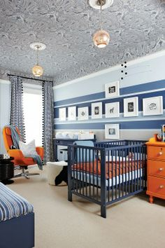 """this new take on """"baby blue"""" swaps pastels for bold navy."""