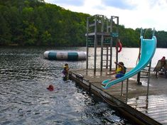 Sunny Point Resort, Cottages & Inn, Parry Sound Picture: Dock Slide Slide & Water Trampoline - Check out TripAdvisor members' 1,704 candid photos and videos.