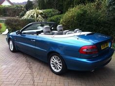 2000 Volvo C70 Blue Convertible Rented that one to go to Cannes Duty Free symposium